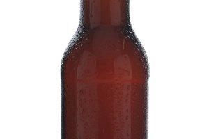 Closeup Brown Beer Bottle