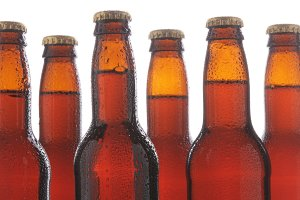 Closeup Beer Bottles