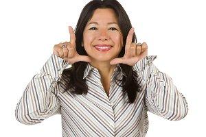 Attractive Multiethnic Woman with Ha