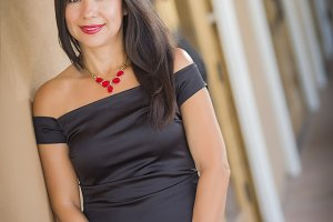 Attractive Hispanic Woman Portrait O