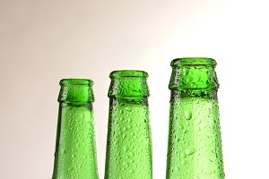 Green Beer Bottles Warm Background