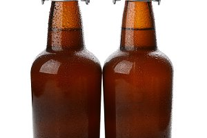 Swing Top Beer Bottles With Condensa