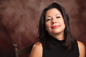 Attractive Hispanic Woman Portrait