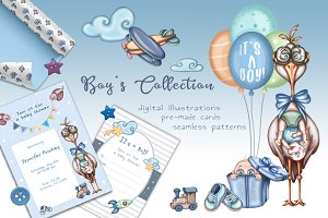 -30%Boy's Collection baby shower kit