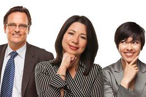 Hispanic Women and Businessman on Wh