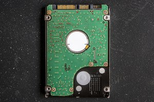 hard drive hdd without case close up