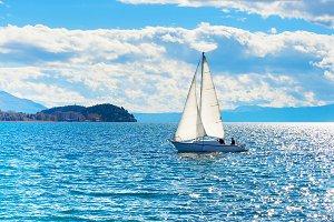 Yacht  Ohrid lake, Macedonia