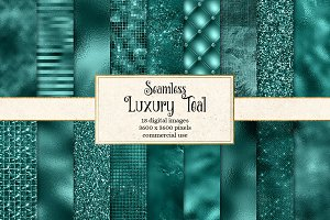Luxury Teal Textures Digital Paper