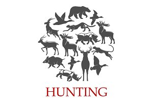 Hunting sport poster
