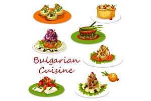 Bulgarian cuisine meat and vegetable