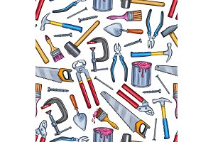 Repair work tool seamless pattern