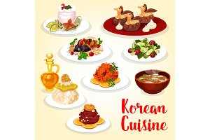 Korean cuisine dishes and desserts