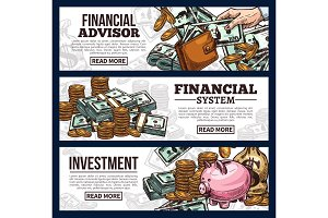 Finance and investment banners