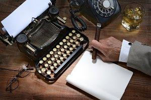 Retro Writer Closeup