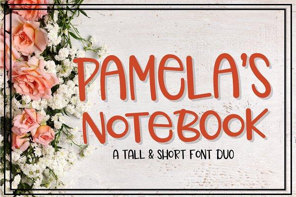 Best Pamela's Notebook - Font Duo Vector