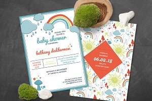 Llama Baby Shower Invite AND Pattern