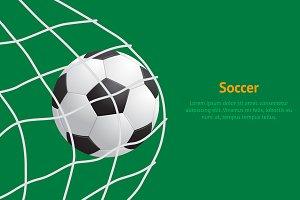 Soccer Ball Hitting on Net Card