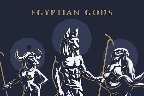 Set of Egiptian Gods