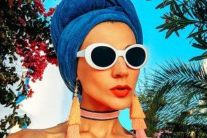 Glamorous Lady. African Style. Fashi