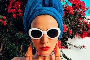 Glamorous Beach Lady. Stylish access