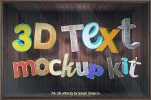 3D text mockups