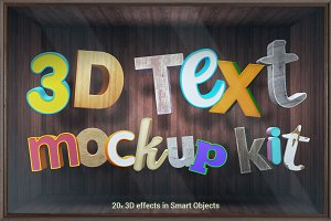 3D Text Mockup Kit - Smart Objects