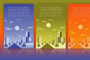 Cityscape Vector Flat illustration