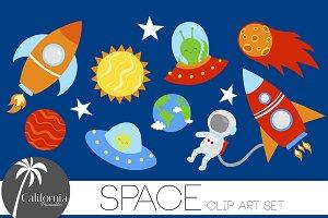 Space Clip Art Set