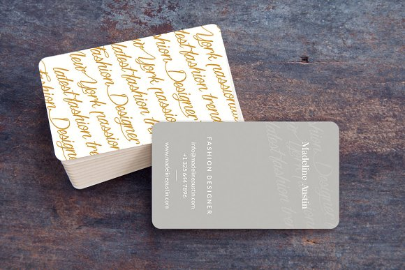 10 commandments of business card design creative market blog elegant business card reheart Image collections