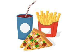 Pizza drink in a disposable Cup