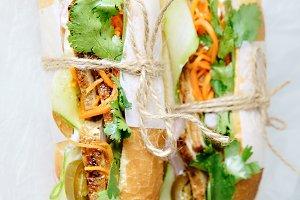 Classical banh-mi sandwich