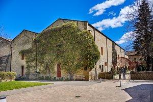 Stone buildings of wine cellars of
