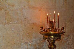 Bronze Floor candlestick