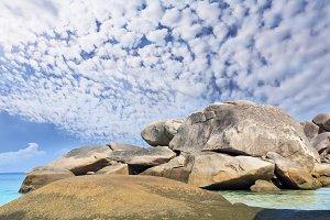 Freakish smooth coastal rocks