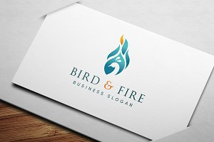 Bird & Fire Logo Template