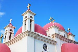The golden crosses the Orthodox Chur