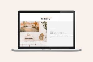 Sedona Divi Theme Home Page Layout