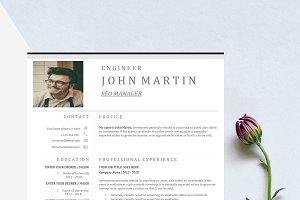 Word Resume & US Letter Template