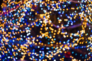 Many colorful blur christmas lights