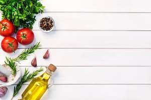 Fresh organic ingridients of italian