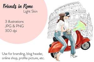 Friends in Rome - Light Skin