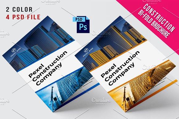 bi fold construction brochure brochure templates creative market