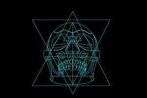 Skull icon geometric vector