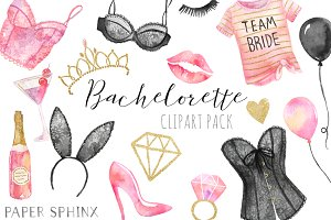 Watercolor Bachelorette Clipart