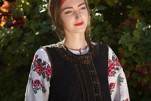 Beautiful Ukrainian girl in national
