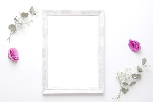 Styled photo - frame & pink