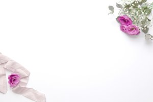 Styled photo - pink & ribbon