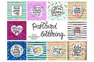 Postcards lettering