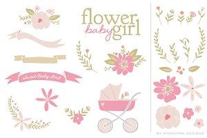 Flower Baby Girl | Clipart