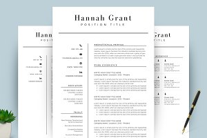 Clean Resume/CV Template Word